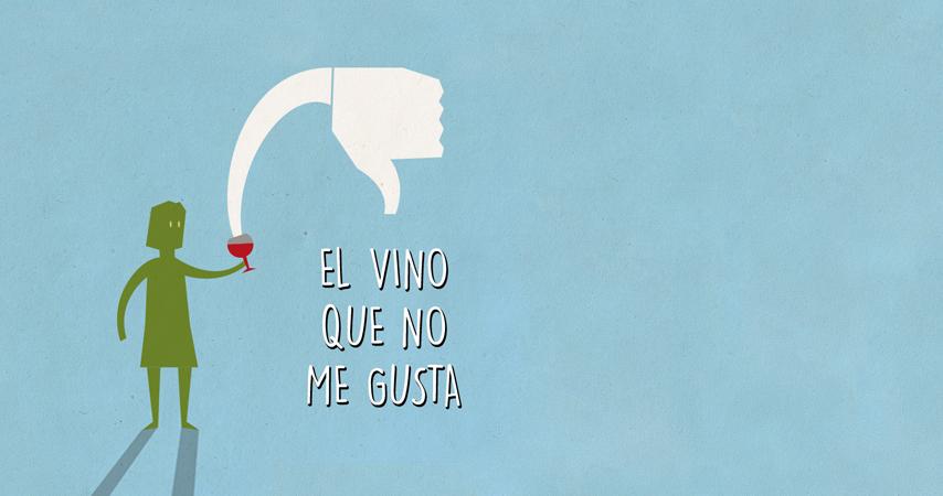 El vino que no me gusta.