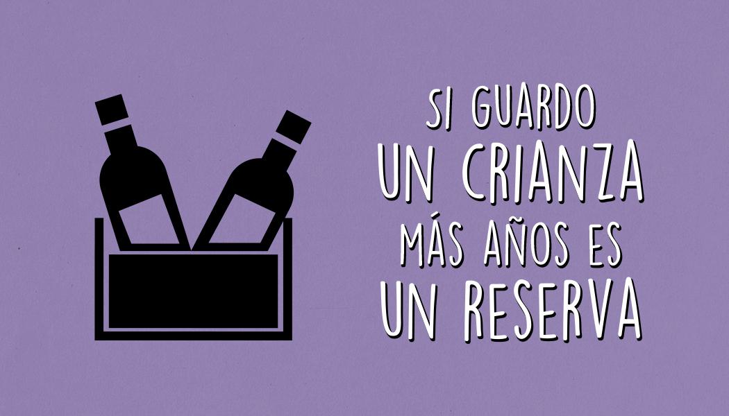 Si guardo un crianza más años, ¿es un vino reserva?