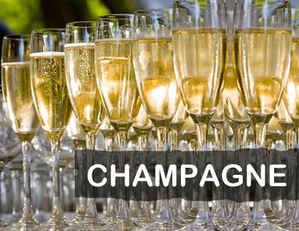copas llenas de champagne
