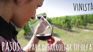 Olfato para catar vino