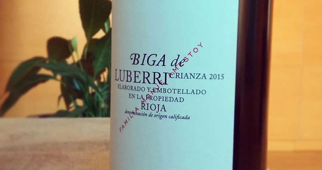 Vino tinto de Rioja Biga crianza magnum
